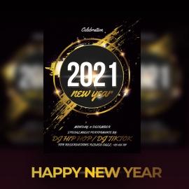 Happy New Year Celebration Flyer