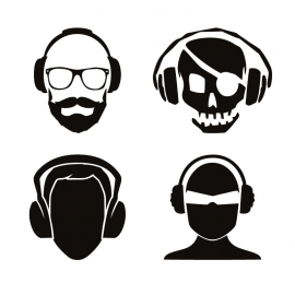 Head Phone Character