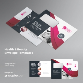 Health / Beauty  B5_Envelop With Magenta Accent