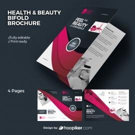 Health / Beauty BiFold Brochure With Dark / Magenta