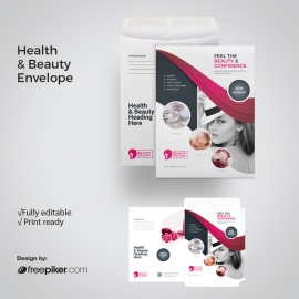 Health / Beauty C4 Envelope Catalog With Magenta Accent