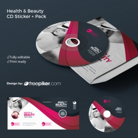 Health & Beauty CD-Pack With Dark / Magenta Accent