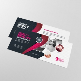 Health & Beauty Compliment Card With Black Red Accent