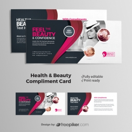 Health / Beauty Compliment Card With Magenta Accent
