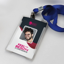 Health & Beauty Identity Card With Black Red Accent