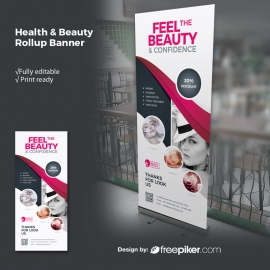 Health & Beauty Rollup With Dark And Magenta Accent