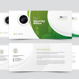 Health Relax & Spa Compliment Card Template