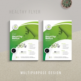 Health Relax & Spa Flyer Template