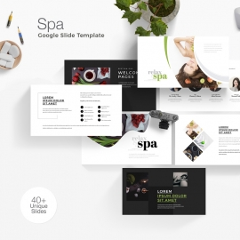 Health Relax & Spa Photography Google Slide Template