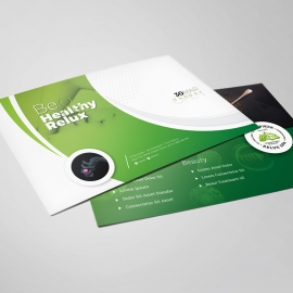 Health Relax & Spa Postcard Template