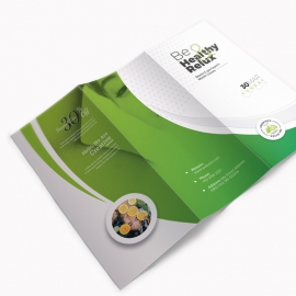 Health Relax & Spa Trifold Brochure