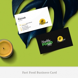 Healthy Food & Restaurant Business Card