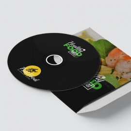 Healthy Food & Restaurant CD Sticker