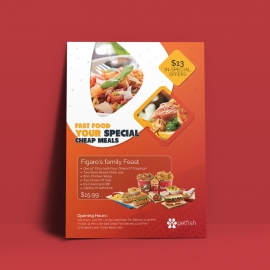 Healthy Food & Restaurant Flyer