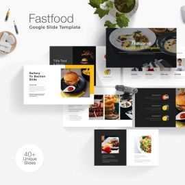 Healthy Food & Restaurant Google Slide Template