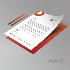 Healthy Food & Restaurant Letterhead