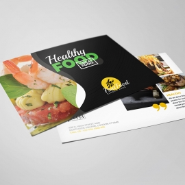 Healthy Food & Restaurant Postcard Template
