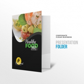 Healthy Food & Restaurant  Presentation Folder