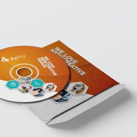 Hexagon Business CD Sticker Pack With Orange Accent