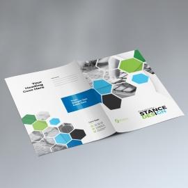 Hexagon Business Presentation Folder