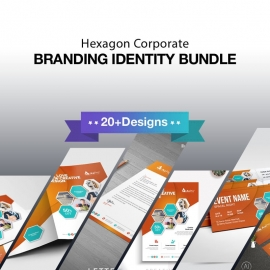 Hexagon Creative Business Identity Stationery Bundle