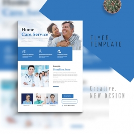 Home Care Medical Flyer With Blue Accent