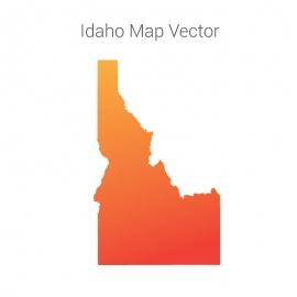 Idaho Map By Gradient Vector Design