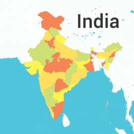 India Map Colorfull Vector Design