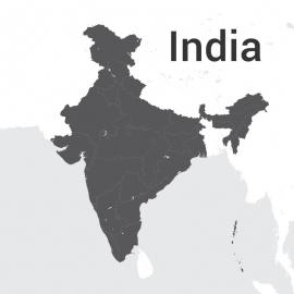 India Map Vector Design