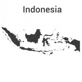 Indonesia Map Vector Design