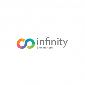 Infinity Logo with Colourful Endless Symbol