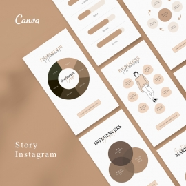 Infographic Canva Story Template