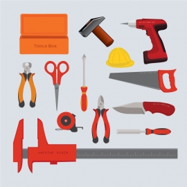 Instruments Hand Tools Vector Design