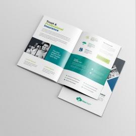 Insurance Company BiFold Brochure With Rhombus