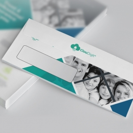 Insurance Company DL Envelope Commercial With Rhombus