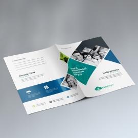 Insurance Company Presentation Folder With Rhombus