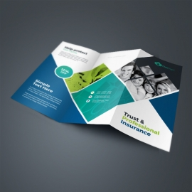 Insurance Company TriFold Brochure With Rhombus