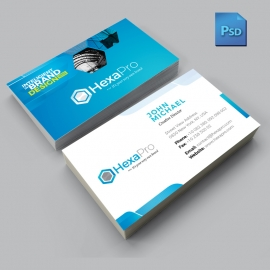 Inteligient Business Card With Blue Concepts