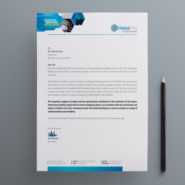 Inteligient Letterhead with Blue Concepts