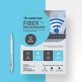 Internet Broadband Promotion Flyer