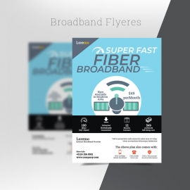 Internet Broadband Promotion Flyer Templates