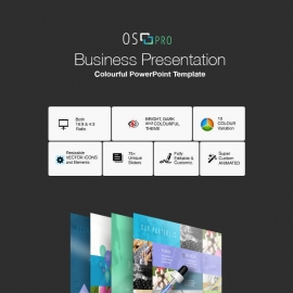 iOS Business PowerPoint With OS Colorurs