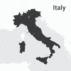 Italy Map Vector Design