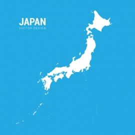 Japan Map Vector Design