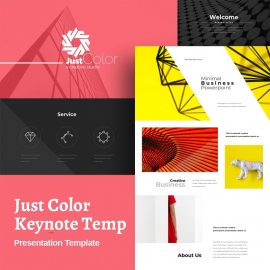 Just Color Keynote Template