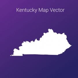 Kentucky Map By Gradient Background Vector Design