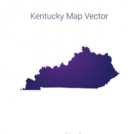 Kentucky Map By Gradient Vector Design