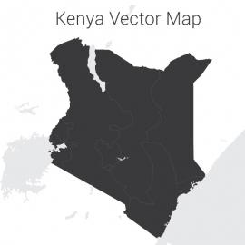Kenya Map Vector Design
