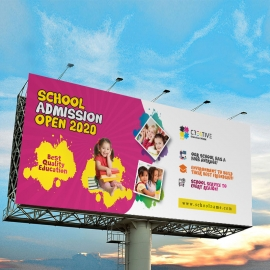 Kids School Admission Billboard Sinage