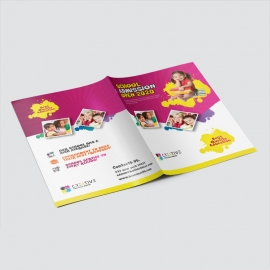 Kids School Presentation Folder With Red & Yellow Accent